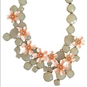 J CREW JEWELED WATER LILY NECKLACE